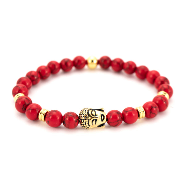Bracelet Beads Budha With Gold
