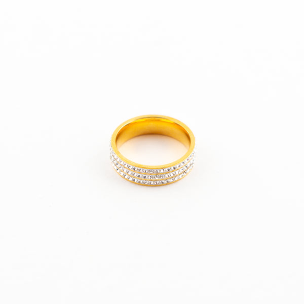 Gold Iced Out Ring