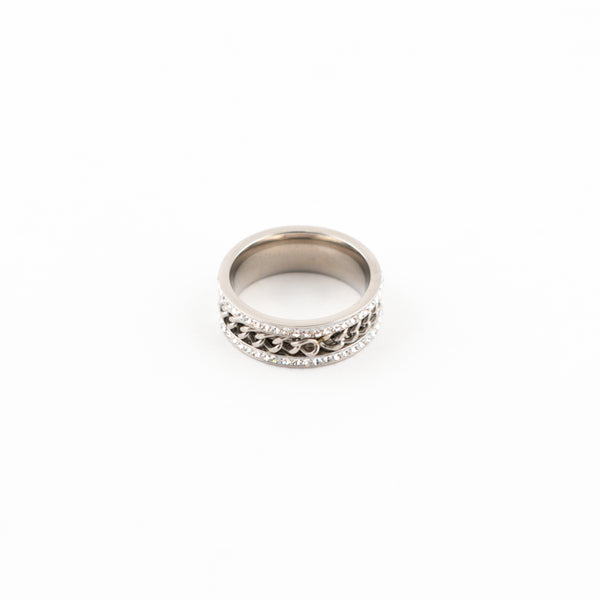 Icey Cuban Rown Ring