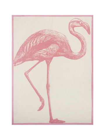 Miami Flamingo tea towel