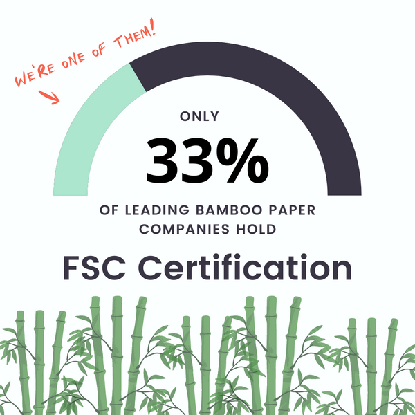 FSC certified bamboo toilet paper brands - Cloud Paper and Seedling by Grove