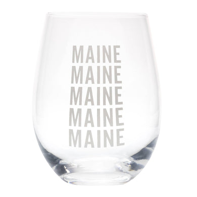 Maine Wine Glass