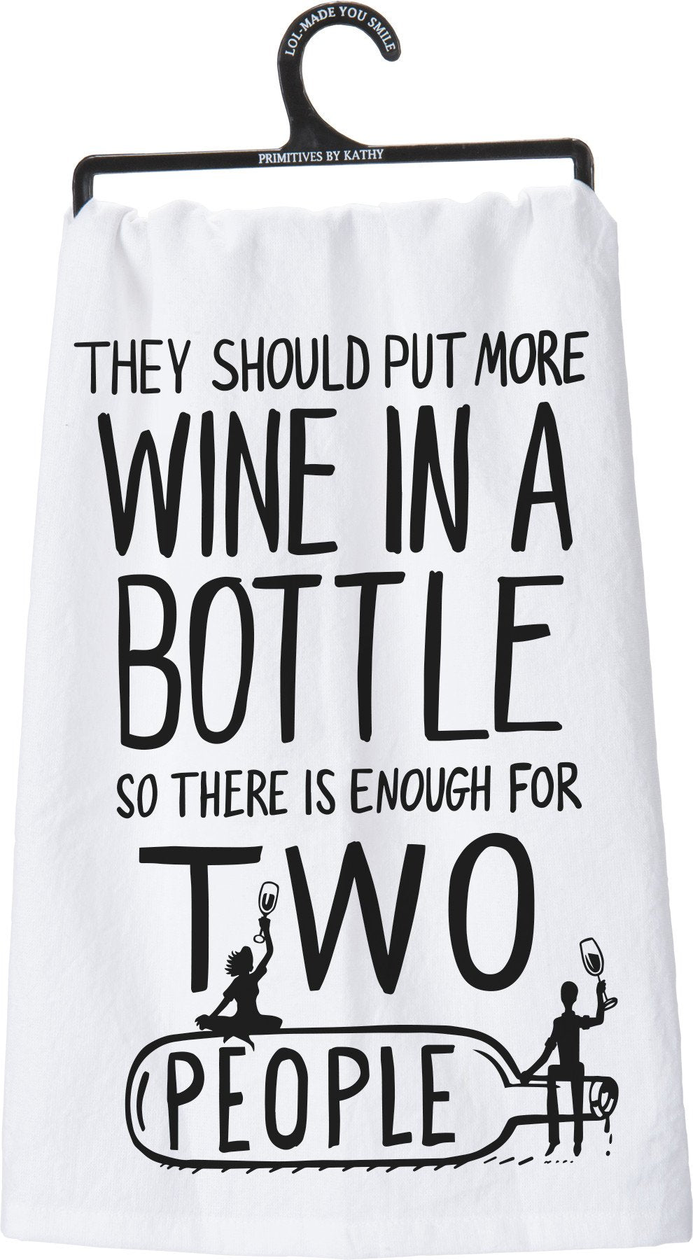 More Wine In A Bottle Dish Towel