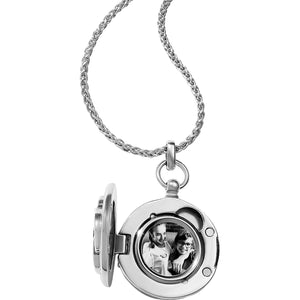 Interlok Small Round Locket Necklace