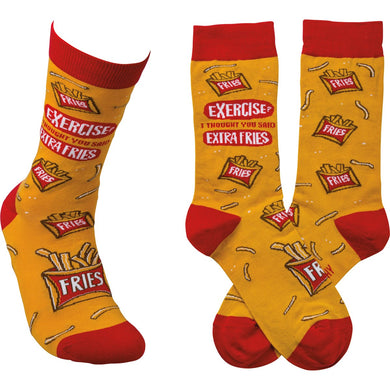 Exercise? I Thought you Said Extra Fries Socks