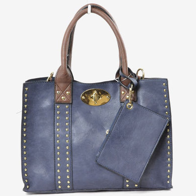 Gold Stud Handbag
