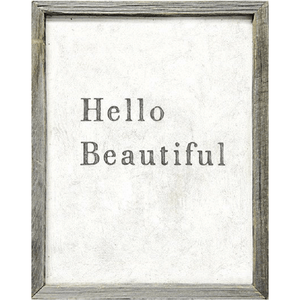 Hello Beautiful Art Print