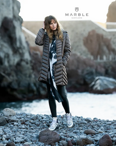Marble Outdoor Long Puff Coat