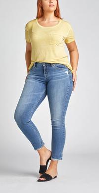 Avery High-Rise Curvy Slim Leg Jeans
