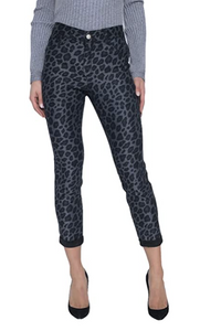 Reversible Black and Leopard Jeans