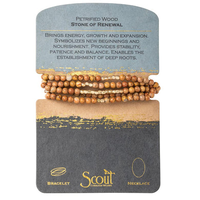 Stone Wrap Bracelet/Necklace - Stone of Renewal - Daisy Trading Company