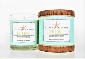 Salty Beach Studio Soy Candle (Click for more scents)