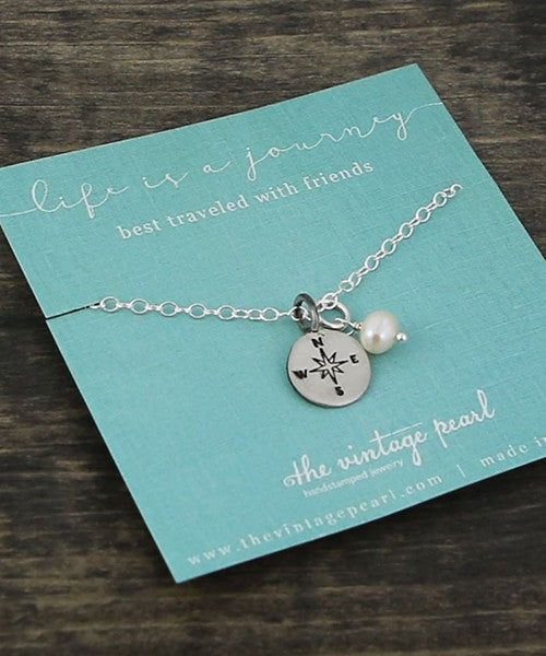 Life is a Journey Best Traveled with Friends Necklace