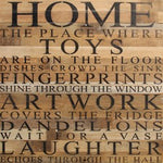 HOME Reclaimed Wood Box Sign