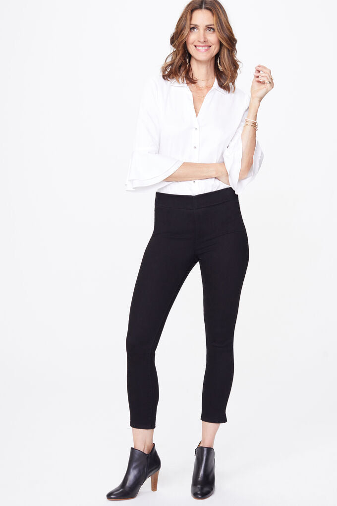 Pull on Skinny Pant With Ankle Slit