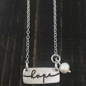 Hope Word Charm Necklace
