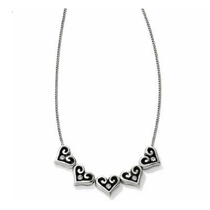 Alcazar Hearts Slider Necklace