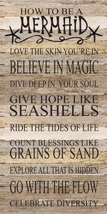 Always be a Mermaid Reclaimed Wood Box Sign