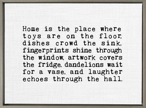 Home is the Place Where Toys are on the Floor Framed Canvas Wall Art
