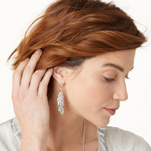 Load image into Gallery viewer, Contempo Ice Feather French Wire Earrings