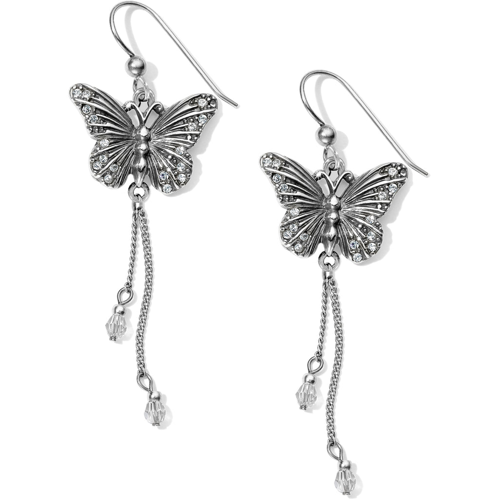 Solstice Butterfly Dangle French Wire Earrings