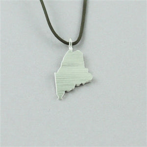 Maine Silver Cord Necklace