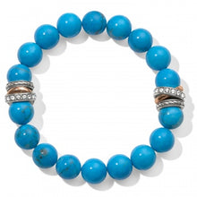Load image into Gallery viewer, Neptune's Rings Turquoise Stretch Bracelet