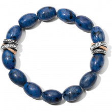 Load image into Gallery viewer, Neptune's Rings Kiwi Lapis Stretch Bracelet