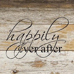Happily Ever After Reclaimed Wood Box Sign