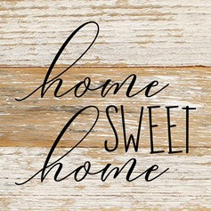 Home Sweet Home Reclaimed Wood Box Sign