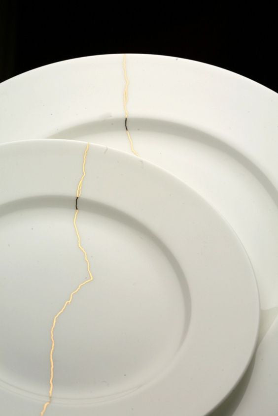 Current obsession: Reiko Kaneko Crack of Thunder Dinner Plates