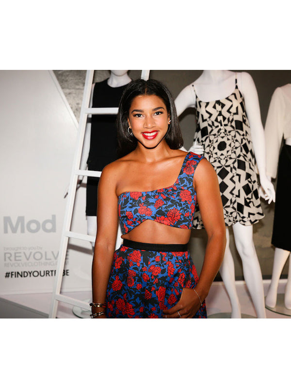 HANNAH BRONFMAN WEARS DIABOLI KILL JEWELRY IN STYLEWATCH X REVOLVE FALL PARTY