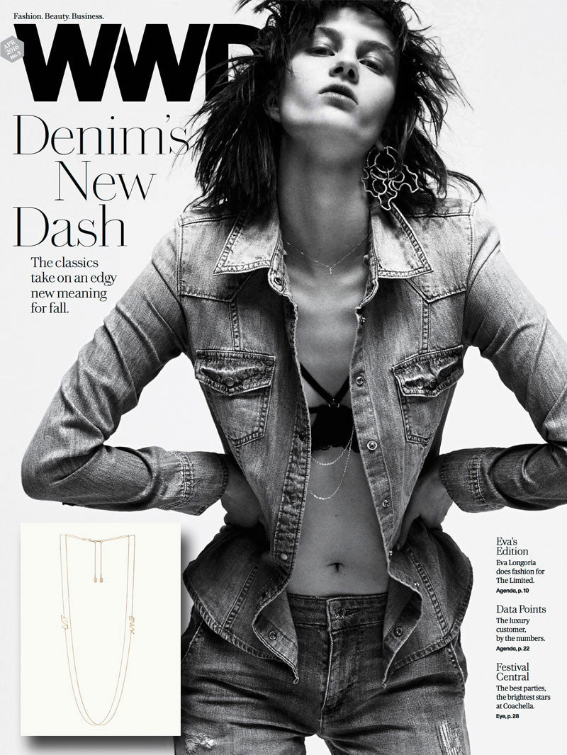DIABOLI KILL LVST ENVY NECKLACES FEATURED IN WWD MAGAZINE - DENIM