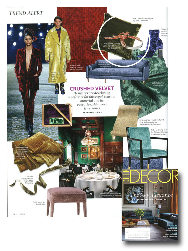 VELVET CRUSH: ELLE DECOR - NOVEMBER 2016