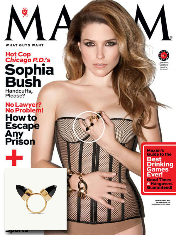 SOPHIA BUSH WEARS LEVANT RING IN MAXIM MAGAZINE