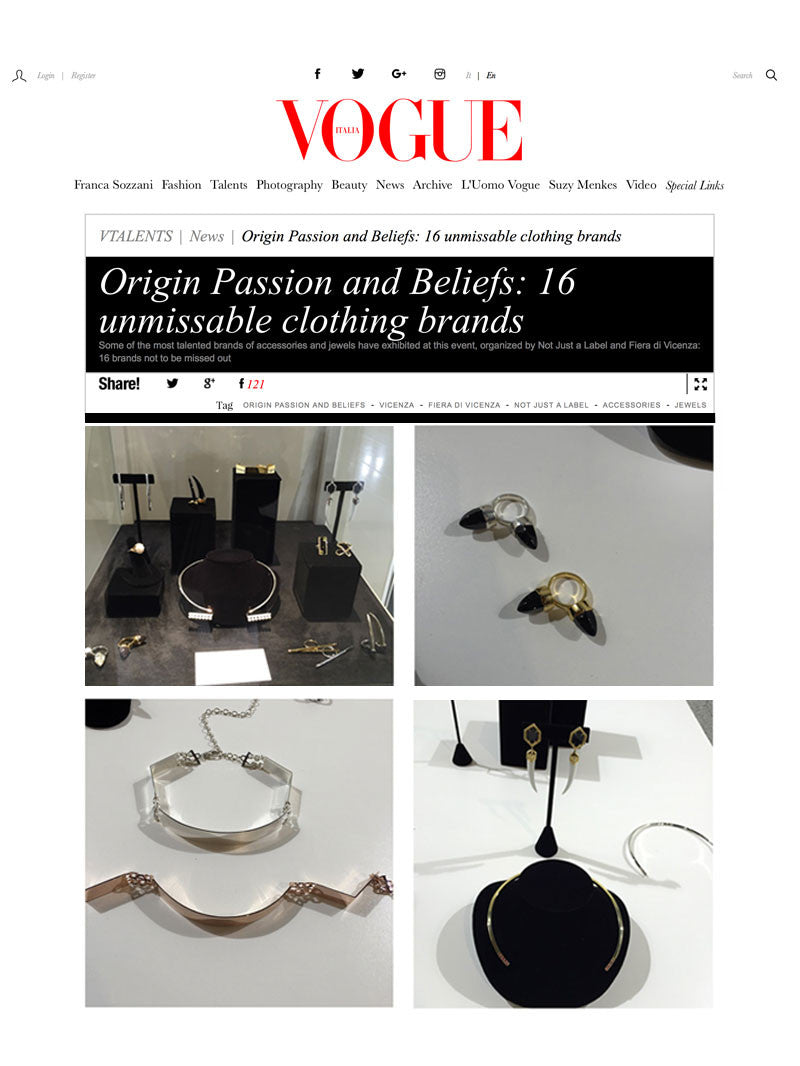 DIABOLI KILL JEWELRY FEATURED IN VOGUE MAGAZINE - ORIGINS