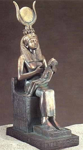 Ancient Egyptian Goddess Isis also known as Auset