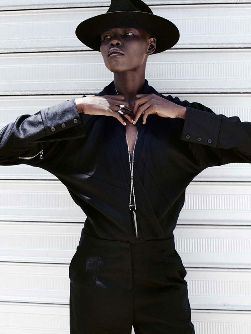 model-grace-bol-wears-damian-ring-pendulum-necklace