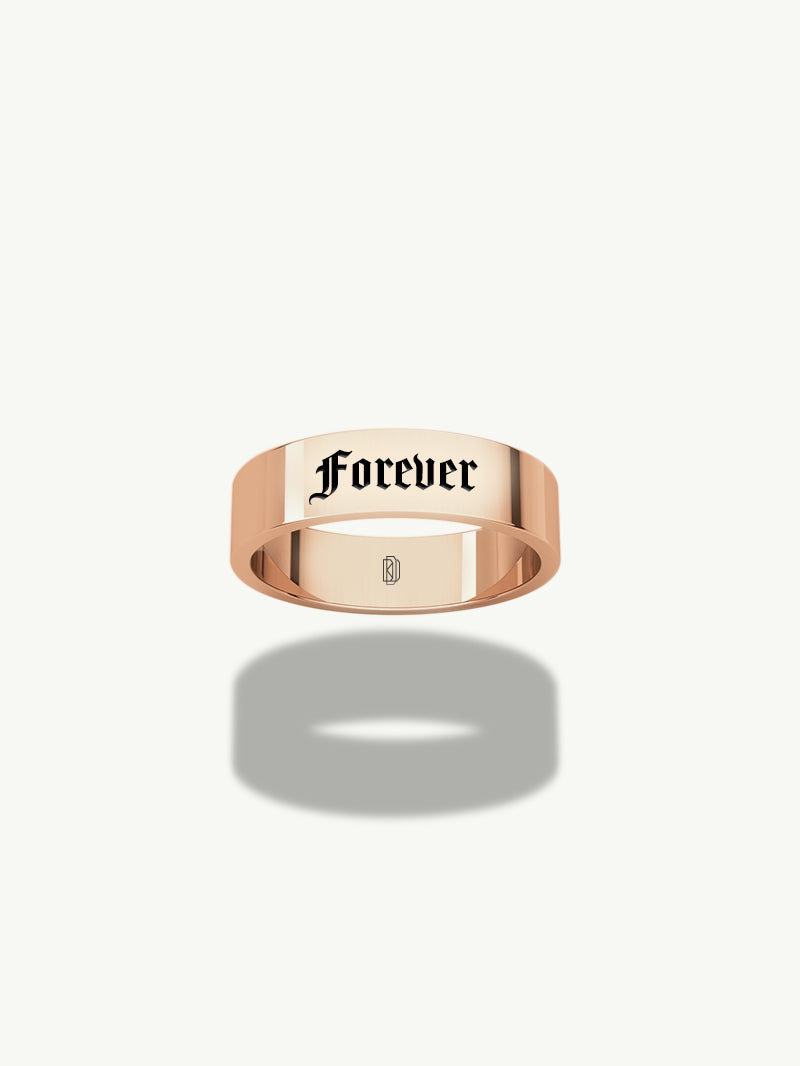Nomine 5mm Flat Band in Rose Gold