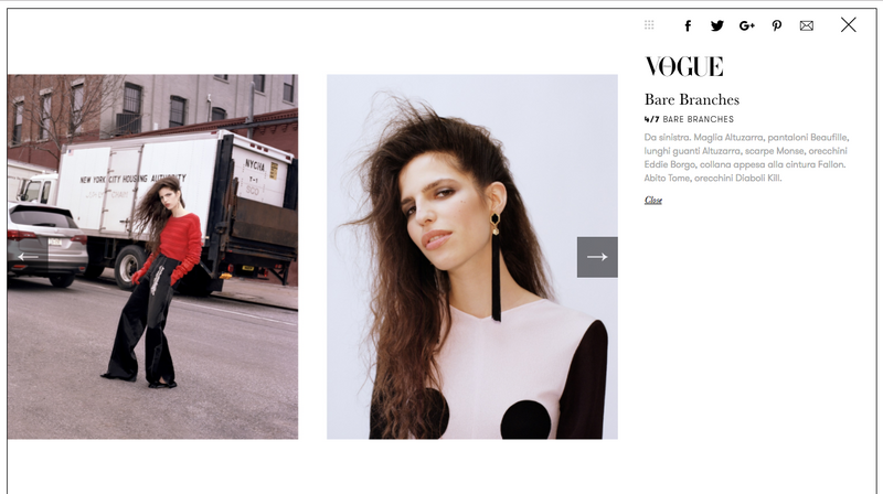 Alexandria Black Tassel Earrings Featured in Vogue Italia