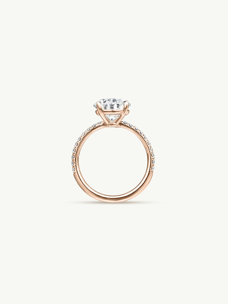 Marei Safaa Pear-Shaped Diamond Engagement Ring in 18K Rose Gold - Img 2