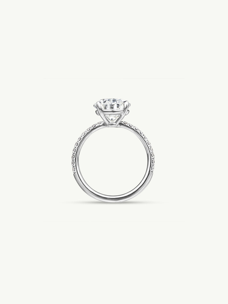 Marei Safaa Pear-Shaped Diamond Engagement Ring in 18K White Gold - img2