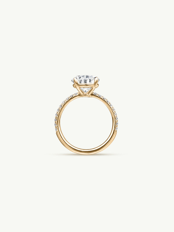 Marei Safaa Pear-Shaped Diamond Engagement Ring in 18K Yellow Gold - img2