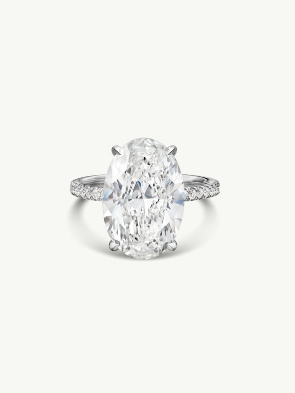 Marei Suma Oval-Shaped Diamond Engagement Ring in Platinum