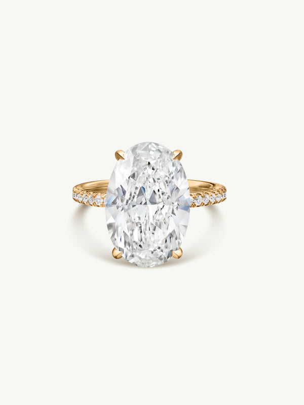 Marei Suma Oval-Shaped Diamond Engagement Ring in 18K Yellow Gold