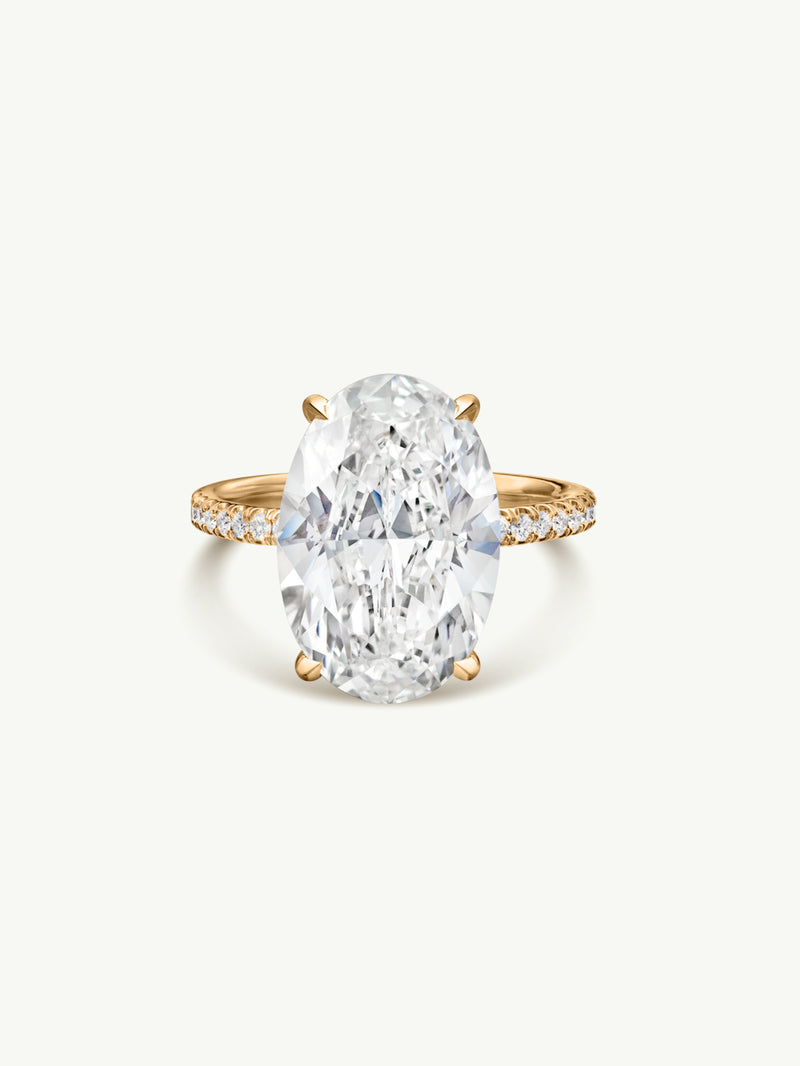 Suma Oval-Shaped Diamond Engagement Ring in 18K Yellow Gold