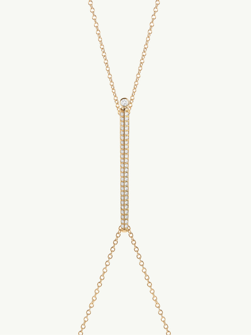 Aracelis Pavé Diamond Body Chain Necklace in 18K Yellow Gold