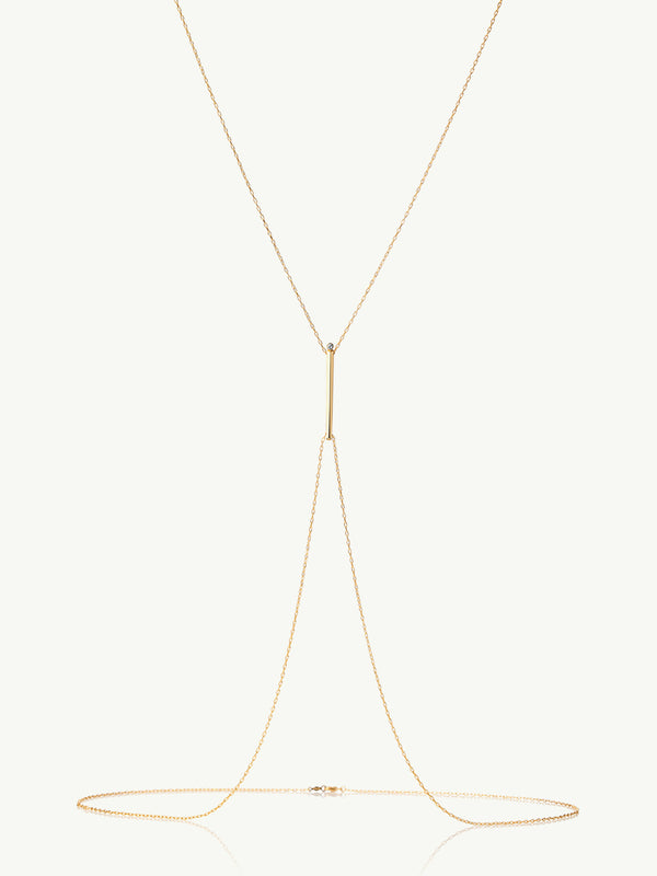 Aracelis Diamond Body Chain Necklace in Yellow Gold