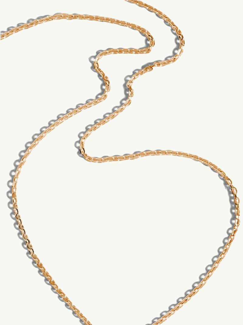 Diamond Cut Cable Chain In 18K Yellow Gold, 2.2mm