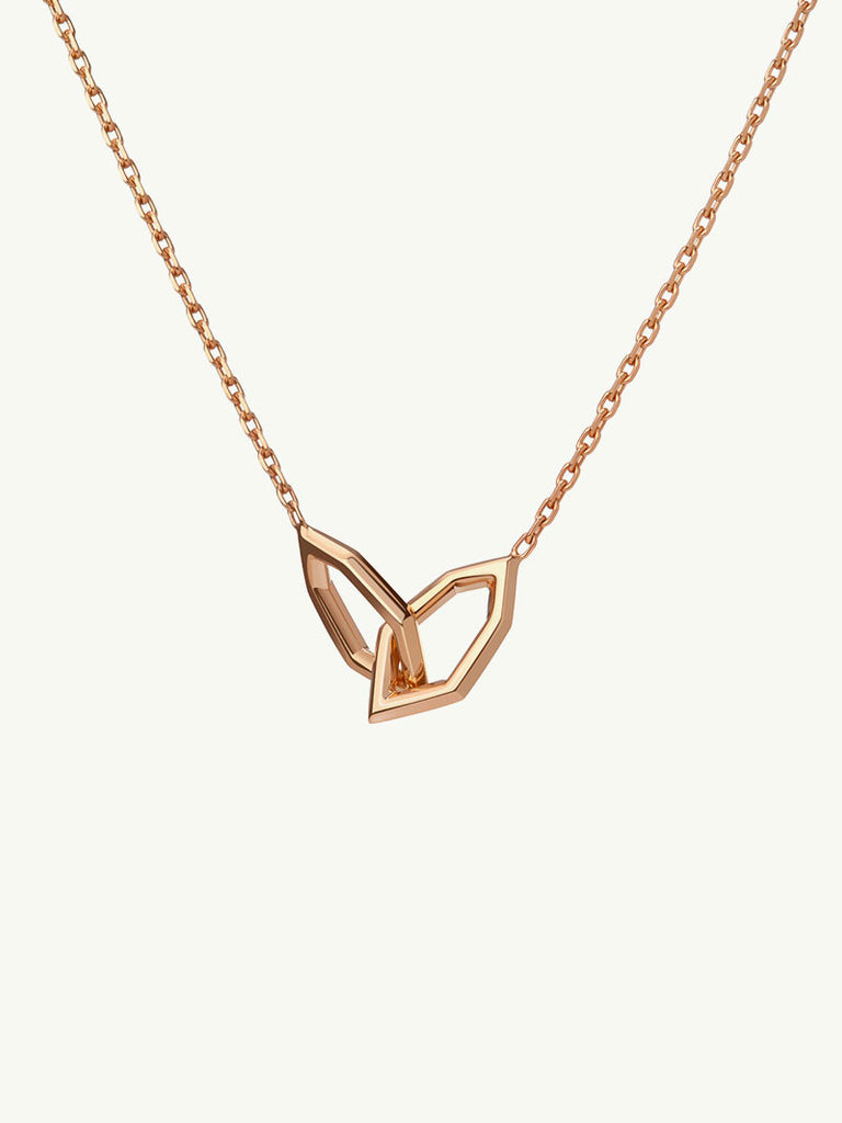 Amanti Baby Cuff 18K Rose Gold Necklace